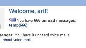 666 unread mails