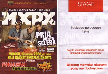 Tiket MxPx